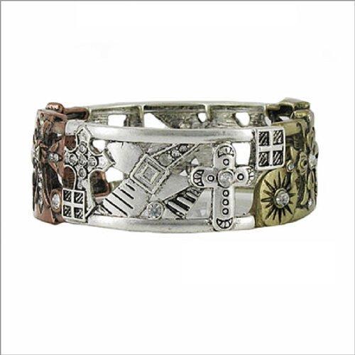 JOA Multi Cross Decoration Stretch Bracelet #040519