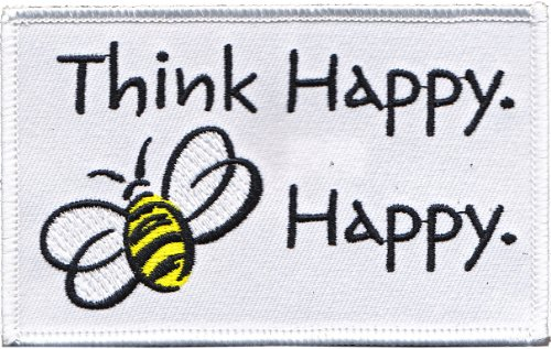 Application Animals Bumblebee Think Happy Patch