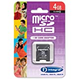 Integral 4GB microSDHC Card (Class 4) with 2 Adapters & USB Reader