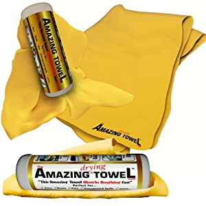 The Amazing Drying Towel - The Best Super Absorbent Fast Drying Towel That Beats Microfiber, Other Chamois, Cleaning and Drying Cloths Hands Down - Guaranteed! from SendMeSolutionsProducts