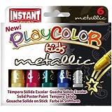 Instant - Playcolor Metallic - Gouache solide en stick - 6 couleurs - 10 g