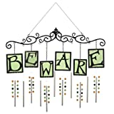 "Grasslands Road All Hallow's Eve Glow in the Dark ""Beware"" Beaded Chime"