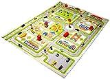 Little Helper IVI - Alfombra de juego 3D, dise�o de centro de la ciudad, 160 x 230 cm, multicolor / verde