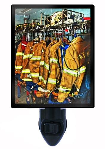Firefighter Night Light - Firefighter Gear Led Night Light front-1018095