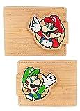 Super Mario y Luigi efecto madera Bifold Wallet