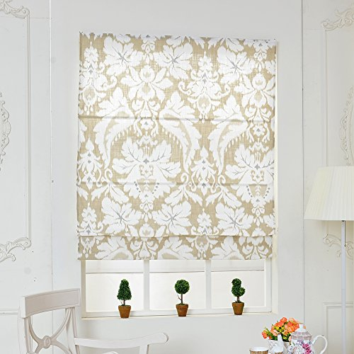 top finel linen cotton window treatments roman shades With 44 inch roman shades