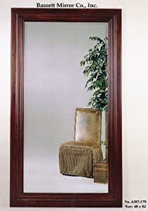Bassett Mirror Cherry Wood Rectangular Bevel Wall Mirror 6387-179