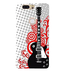 Amazing Guitar Cute Fashion 3D Hard Polycarbonate Designer Back Case Cover for Huawei Honor V8