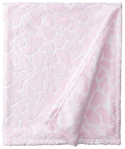 BabyGear Baby-Girls Newborn Burnout Blanket On Hanger - Giraffe - 1