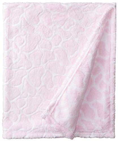 BabyGear Baby-Girls Newborn Burnout Blanket On Hanger - Giraffe - 1