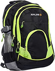 ZIPLINE 21 Ltrs Black Casual Backpack
