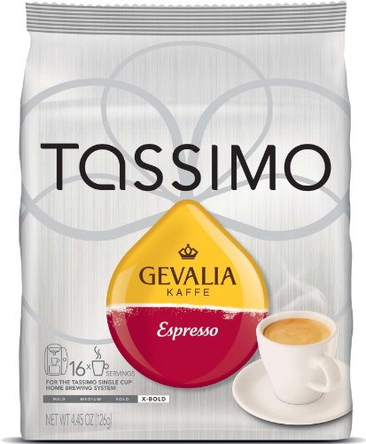 Gevalia Kaffe Espresso, 16 T Disc, 4.45Oz, Pack Of 2