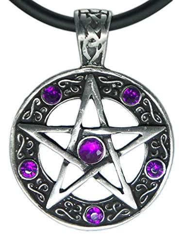 Star Pentagram Witch Gothic Pewter Pendant