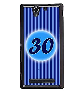 Printvisa 2D Printed Numerology Designer back case cover for Sony Xperia C3 - D4251