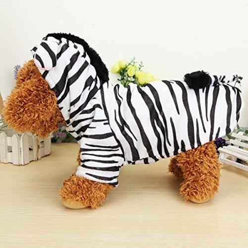 [Winter Pet Zebra Style Thick Warm Cotton Dog Cat Coat Jumpsuit Costume] (Zebra Cat Costume)