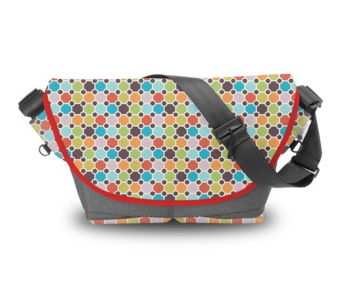 Atrangee Party Pop Messenger Bag (Grey, Red) (multicolor)