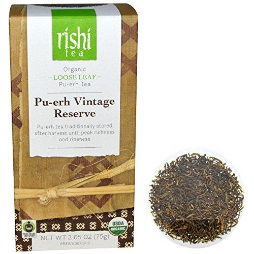 Rishi Tea, Organic Loose Leaf Tea, Pu-Erh Vintage Reserve, 2.65 Oz (75 G)