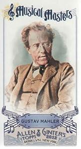 2012 Topps Allen and Ginter Baseball Mini Musical Masters #MM16 Gustav Mahler MLB Trading Card