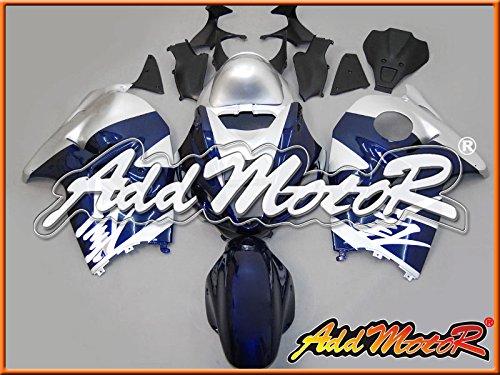 Addmotor プラスチック フルカウルキット スズキ SUZUKI GSXR1300 GSXR 1300 GSX1300R Hayabusa 隼 1996 1997 1998 1999 2000 2001 2002 2003 2004 2005 2006 2007 96-07 用 ブルー スライバー S3638