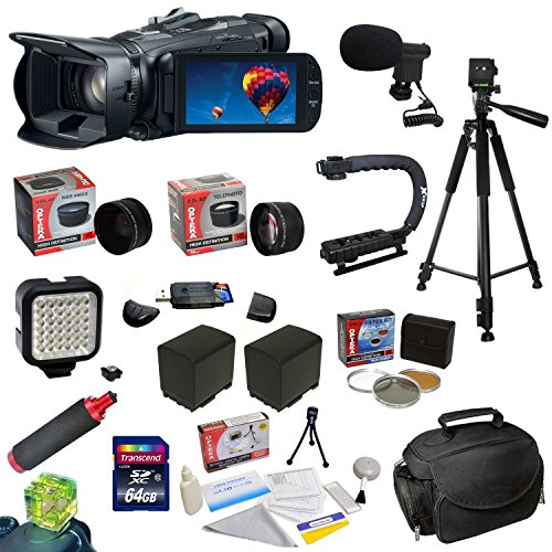 Canon Vixia Hf G30 Full Hd Camcorder Plus Ultimate Accessory Kit: 64Gb High-Speed Sdhc Card + 58Mm 3 Piece Pro Filter Kit (Uv, Cpl, Fld) + 0.43X Hd Ii Wide Angle Panoramic Lens + 2.2X Hd Af Telephoto Lens + 2 Extra Batteries + Battery Charger + Profession