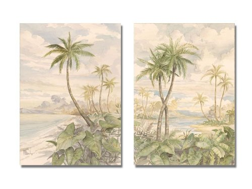 WallsThatSpeak-2-Water-Color-Tropical-Palm-Tree-Art-Prints-Harbor-Cabana-Bay-11-by-14-Inch