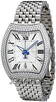 Bedat No. 3 Opaline Guilloche Dial Diamond Bezel Ladies Watch 315.031.100
