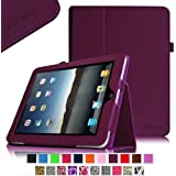 Fintie iPad 1 Folio Case - Slim Fit Vegan Leather Stand Cover with Stylus Holder for Apple iPad 1 1st Generation - Purple