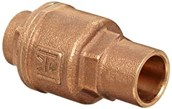 Milwaukee Valve UP1548T Series Bronze Spring Check Valve, Potable Water Service, Solder End