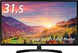 LG ディスプレイ モニター 31.5インチ/IPS非光沢/フルHD/HDMI ブラック/ブルーライト低減機能 32MP58HQ-P ランキングお取り寄せ