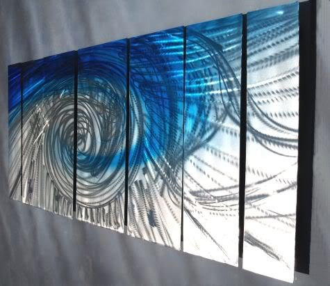 Contemporary Metal Wall Decor - Unique Artwork - Modern Painting