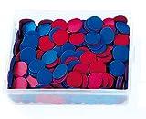 Betzold 400 Schüler-Wendeplättchen, Klassensatz mit blauer und roter Seite, robust, Kunststoff, Plastik, 1. Klasse Grundschule, Rechnen lernen, Mathematik, Rechenspiel, in praktischer Aufbewahrungsbox