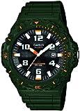 Casio MRW-S300H-3BVEF - Reloj analógico de cuarzo para hombre con correa de resina, color verde