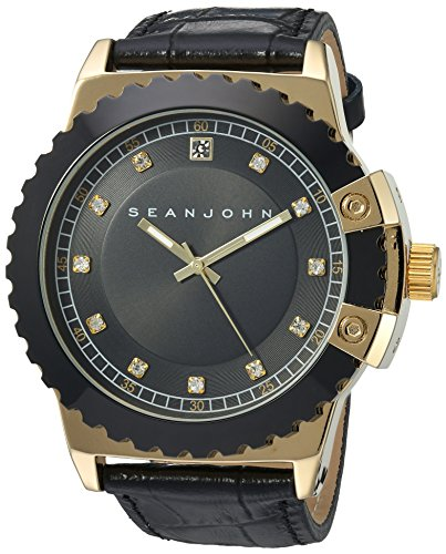 Sean-John-Mens-Diamond-Quartz-Metal-Casual-Watch-ColorBlack-Model-10030887