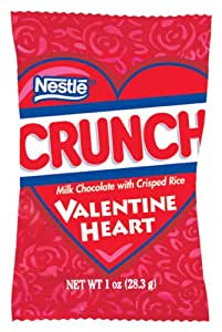 Nestle Crunch Valentine's Heart, 1-Ounce Packages (Pack of 24)