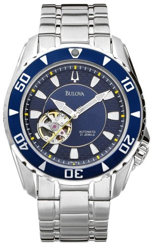 Bulova Men's 98A104 Marine Star Automatic Stainless Steel Bracelet Watch