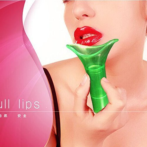lip plumper pumps for sexy lips device enhancer pump lovely full universal size (Green) (Benefit Lip Liner compare prices)