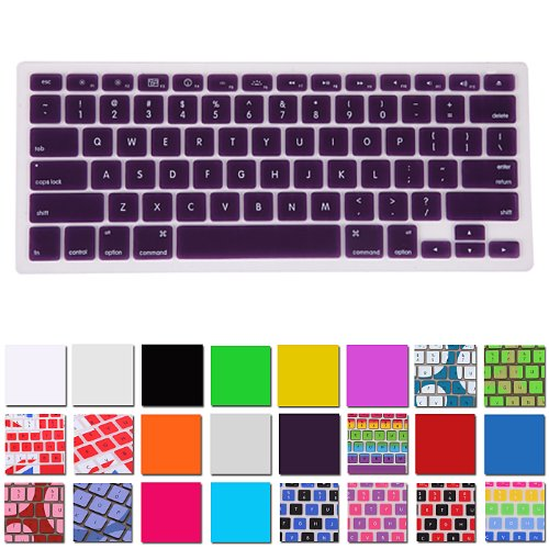 Hde Silicone Rubber Keyboard Skin For Macbook Pro (Non-Retina) (Purple)