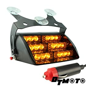 DT MOTOu2122 Amber 18x LED Tow Truck Warning Vehicle Strobe Dash Light - 1 unit