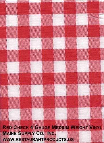 "Red & White Check 52"" X 90"" Economy Plus Vinyl Tablecloth"