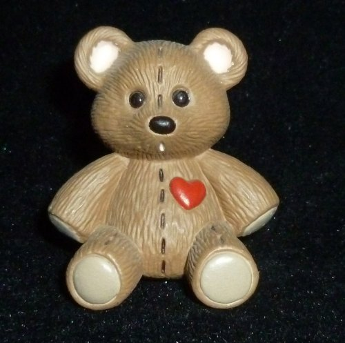 Hallmark Merry Miniature Teddy Bear With Stitching Figurine - 1