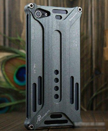 Arachnophobia iPhone6 ケース アルミ バンパー ダークグレー トランスフォーマー スタイル Durable diagonal