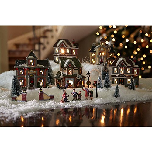 Home Accents Holiday 6.1 in. H Lighted School Village Set (20-Piece) (Ceramic Village Houses compare prices)