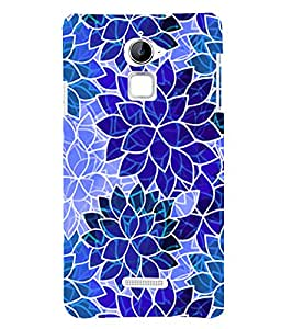 PrintVisa Modern Art Leaf Pattern 3D Hard Polycarbonate Designer Back Case Cover for Coolpad Note 3 Lite