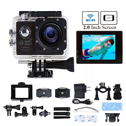 CCbetter ® Sports Action Camera CS720W Wifi 12mp 1080p 170 Degree Waterproof Diving Video DVR (Wifi Black)