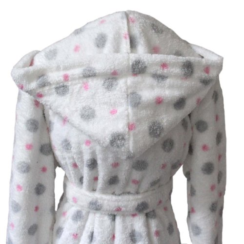 Homescapes L Hooded Women's Bathrobe long and a Pair of Slippers Set White, Supersoft Dressing Gown