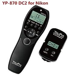 ELEOPTION® YouPro Wireless Shutter Timer Remote for Nikon DSLR D7100, D7000, D5200, D5100, D5000, D3200, D3100, D600, D90, P7700 (YP-870 DC2)