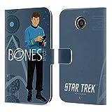 オフィシャルStar Trek ドクター・マッコイ アイコニック・キャラクターズ TOS レザー手帳型ウォレットタイプケース Motorola Moto X (2nd Gen)