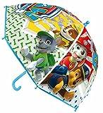 Regalo + paraguas PAW PATROL 46cm, modelo nuevo!! personajes de serie TV, transparente dibujos grandes, regalo pack 3 calcetines marca tiendadeleggings incluido(color aleatorio)