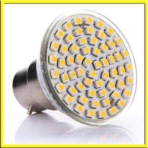 B22 60 Smd Led 4.5W 240Lm Blanc Chaud Spotlight 220-240V Lampe Ampoule Bulb Neuf