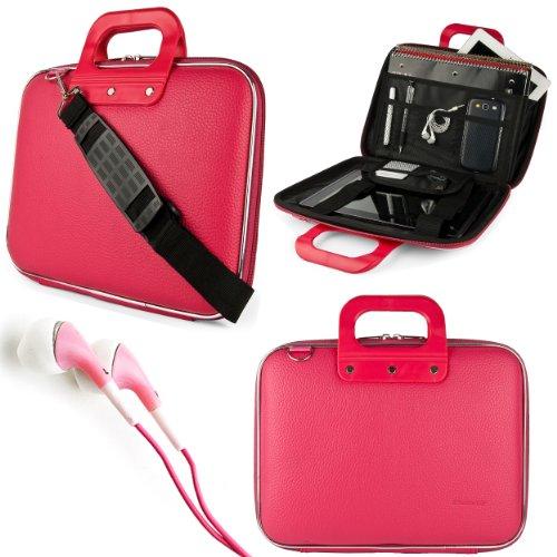 Pink Sumaclife Cady Bag Case W/ Shoulder Strap For Asus Eee Slate B121 Windows 7 Professional 12.1-Inch Tablet + Pink Vangoddy Headphones
